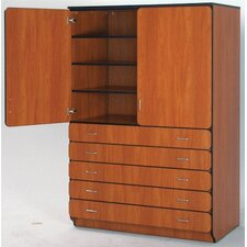 "Illusions 84"" Shelf and Drawer Cabinet with Four Adjustable Shelves"