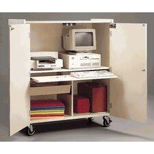 Mobile Computer Workstation Cabinet AV Cart