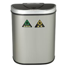 Nine Stars 18.5-Gal Motion Sensor Recycle Trash Can
