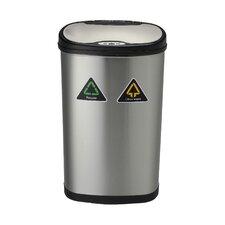 Nine Stars 13.2-Gal Motion Sensor Recycle Trash Can