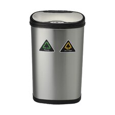 Nine Stars 13.2-Gal Motion Sensor Recycle Trash Can
