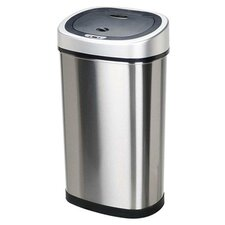13.2-Gal Stainless Steel Motion Sensor Trash Can