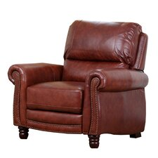 Aron Pushback Leather Recliner