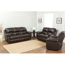 Westwood 3 Piece Leather Reclining Living Room Set