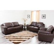 Cosmopolitan 3 Piece Leather Living Room Set