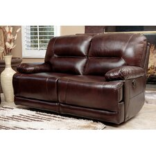 Brownstone Leather Power Reclining Loveseat