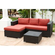 Ventura 3 Piece Seating Group with Cushions