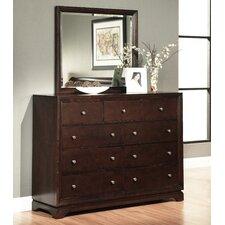 Donohue 9 Drawer Dresser With Mirror