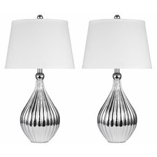"""Sydney 27.5"""" H Table Lamp with Empire Shade (Set of 2)"""