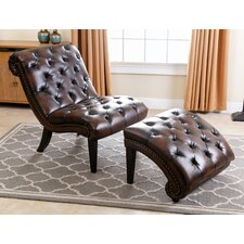Alessa Leather Chaise Lounge