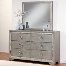 Beverly 6 Drawer Dresser with Mirror