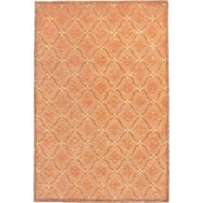 Oceans of Time Rich Gold and Sand Brown Himalayan Sheep & Flowers Indoor/Outdoor Area Rug