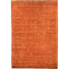 Oceans of Time Himalayan Sheep Tibetan Orange Indoor/Outdoor Area Rug