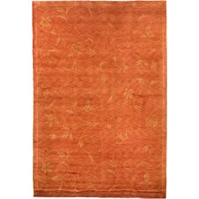 Oceans of Time Himalayan Sheep Tibetan Orange Indoor/Outdoor Area Rug