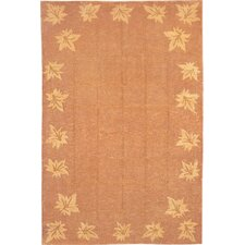 Oceans of Time Himalayan Sheep Leaf Gold Indoor/Outdoor Area Rug