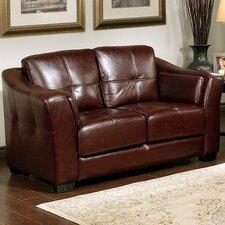 Ashburn Italian Leather Loveseat
