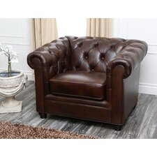 Arcadian Premium Italian Leather Arm Chair