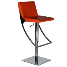 Sonic Adjustable Height Swivel Bar Stool with Cushion