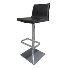 Uptown Adjustable Height Swivel Bar Stool with Cushion