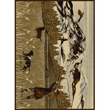 Nature Brown Area Rug