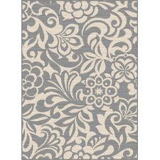Garden City Gray Indoor/Outdoor Area Rug