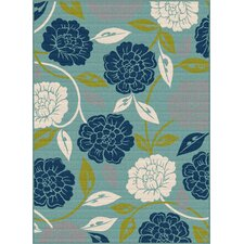 Garden City Aqua Indoor / Outdoor Area Rug