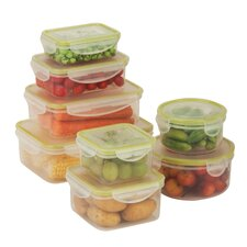 16 Piece Snap-Tab Food Storage Container Set