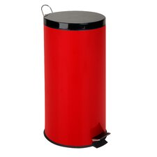 8-Gal Metal Step Trash Can