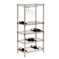 5-Tier 24 Bottle Floor Wine Rack