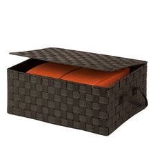 Hinged Lid Woven Storage Box