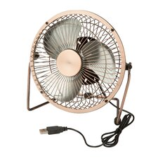"6"" Table Fan with USB Powering"