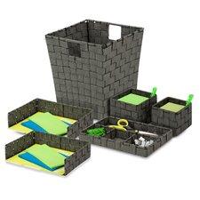 6 Piece Woven Desk Organizer Set