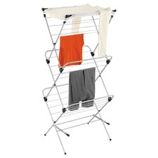 Three Tier Mesh Top Drying Rack in Navy Blue