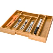Bamboo Expandable Drawer Organizer Tray