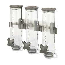 Zevro 13 Oz. Tripple Canister Smart Space Triple Dispenser
