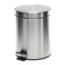 1.32 Gallon Round Stainless Steel Step Trash Can