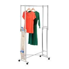 Double Folding Square Tube Garment Rack