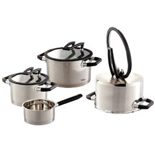 Black Pearl 4-Piece Stainless Steel Cookware Set