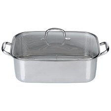 Barbecue 27.5cm Roaster in Silver