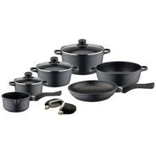 Black Cast 6-Piece Non-Stick Cookware Set