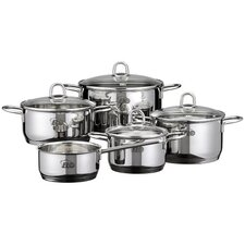 Rubin 5-Piece Stainless Steel Cookware Set