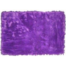 Flokati Purple Area Rug