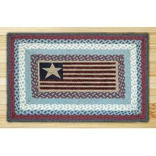 Flag Rectangle Red/Blue Patch Area Rug