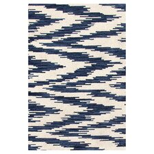 Hand Woven Blue/White Indoor Area Rug