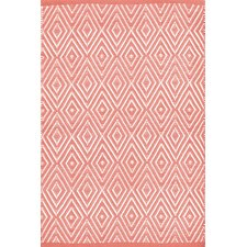 Diamond Coral & White Indoor/Outdoor Area Rug