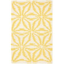 Aster Hooked Gold Area Rug