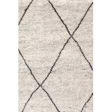 Knotted Grey Area Rug
