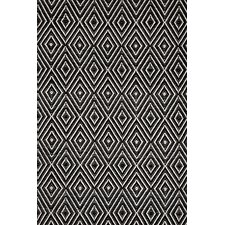 Hand Woven Black/Ivory Indoor/Outdoor Area Rug