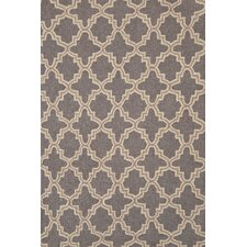 Plain Tin Charcoal Wool Micro Hooked Rug