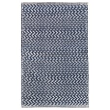 Herringbone Blue/Ivory Indoor/Outdoor Area Rug